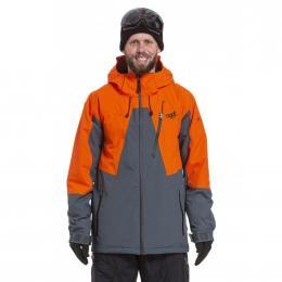 Pánská Snowboardová bunda Nugget Drone 3 19/20 E - Lead Grey, Orange
