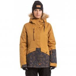 Dámská Snowboardová bunda Meatfly Athena  19/20 F - Wood Stripe, Ebony Origami Stripe