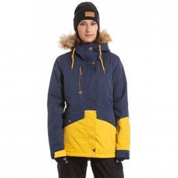 Dámská Snowboardová bunda Meatfly Athena  19/20 B - Navy Stripe, Yellow Stripe