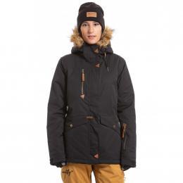 Dámská Snowboardová bunda Meatfly Athena  19/20 G - Black Stripe