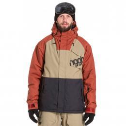 Pánská Snowboardová bunda Nugget ROVER  19/20 E - Sand, Picante, Black