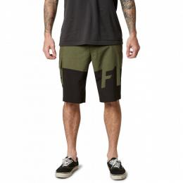 Šortky Fox Essex Tech Print Short 2020 Olive Green