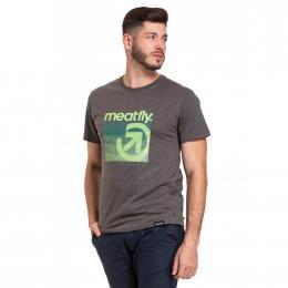 Pánské Tričko Meatfly Silicon 2020 B - Heather Dark Grey