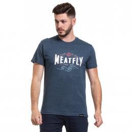 Pánské  Tričko Meatfly Windy 2020 C - Heather Navy