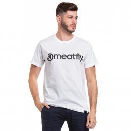 Pánské  Tričko Meatfly Logo 2020 B - White