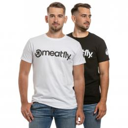 Pánské  Tričko Meatfly 25 YEARS Black, White