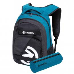 batoh Meatfly Exile 5 Backpack 24L 2021 E Heather Petrol, Heather Charcoal