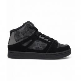 dětské zimní boty DC Pure High Top 20/21 black camouflage