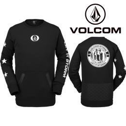 Technická mikina Volcom Let It Storm Crew Fleece 20/21 Black