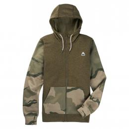 dámská mikina Burton Oak Full Zip 20/21 Martini Olive Heather/Barren Camo