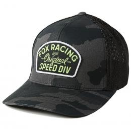 kšiltovka Fox Og Camo Flexfit Hat 2021 Black Camo