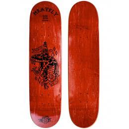 skate deska MEATFLY Dagger sk8 deck 2021 Red wood