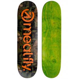skate deska MEATFLY Flipin sk8 deck 2021 Camo Orange