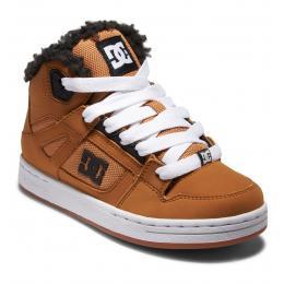 dětské zimní boty DC Pure High-Top WNT 21/22 BROWN/WHEAT