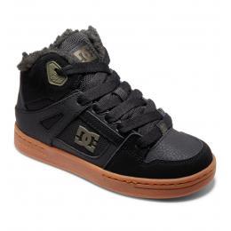 dětské zimní boty DC Pure High-Top WNT 21/22 BLACK/OLIVE