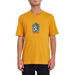 Pánské tričko Volcom Crostic Basic SS 2021/22 Vintage Gold