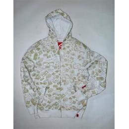 Mikina és MONOGRAM MNS ZIP HOOD FLEECE white