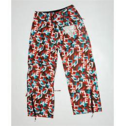 snb kalhoty MeatFly Kids 11/12 y - B/ letters brown-red